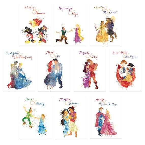 Verkauf Disney Hochzeit Tischnummern Disney Thema Hochzeiten Etsy