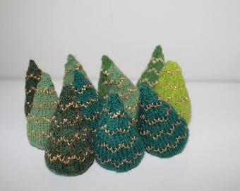 Opskrift på strikket juletræ
