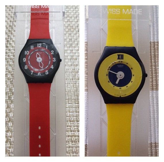 Two New Swatch Skins Swatch Rosso Corsa & Amarillo