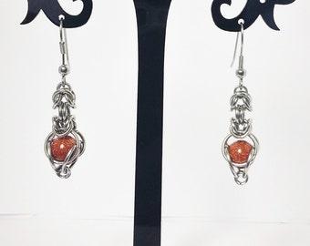 Earrings Kariad S - Goldstone