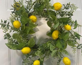 Lemon Wreath, Country Kitchen Wreath, Summer Wreath, Best Seller