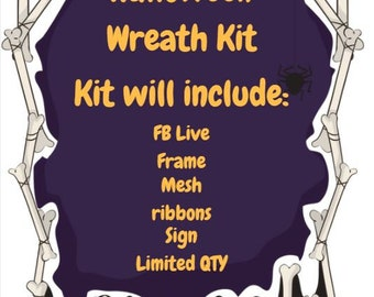 Halloween Wreath Kit - READ DESCRIPTION
