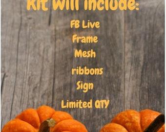 Fall Wreath Kit - READ DESCRIPTION