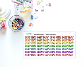 Soft Play Planner, Penpal and Journalling Stickers