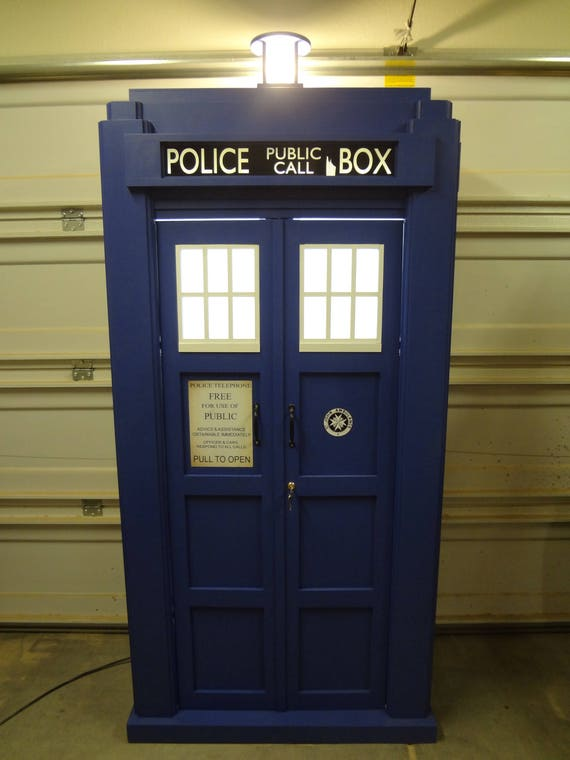 Dr Who Tardis Bookshelf 3 4th Scale Shelf Storage Cabinet