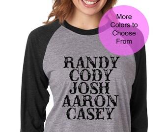 112ce86e Texas Red Dirt Country Music Concert Shirts TShirts Raglan Baseball 3/4  Shirt Top Shirts Wording Sayings Gift