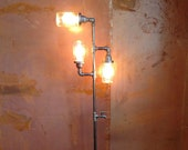 Edison Floor Lamp Restoration Hardware Steampunk Mason jar DOES NOT Include Bulbs