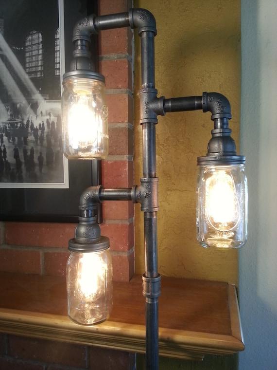 Restoration Hardware Floor Lamps >> Edison Floor Lamp Restoration Hardware Steampunk Mason Jar Does Not Include Bulbs