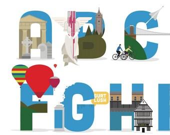 Bristol Alphabet Poster