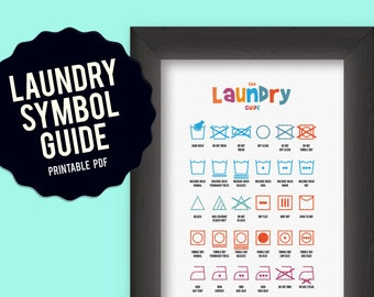 Laundry Symbol Chart, printable poster
