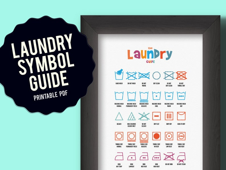 photograph about Laundry Symbols Printable referred to as Laundry Logo Chart, printable print