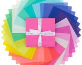 Tula Pink Designer Solids Charm Pack, 5 Inch Cotton Precut Squares Pack