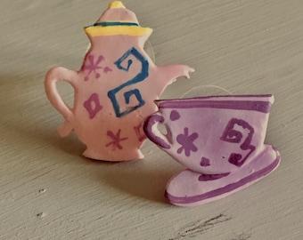 Alice in Wonderland tea party earring set