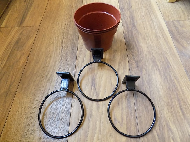 3x5plant Pot Holders Wrought Iron Forged Etsy
