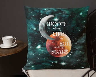 """GOT Game of Thrones Decorative THROW Pillow Game of Thrones Gift Home Decor Square Double Sided 18""""x18"""" Couch Pillow Galaxy Print Sun Stars"""