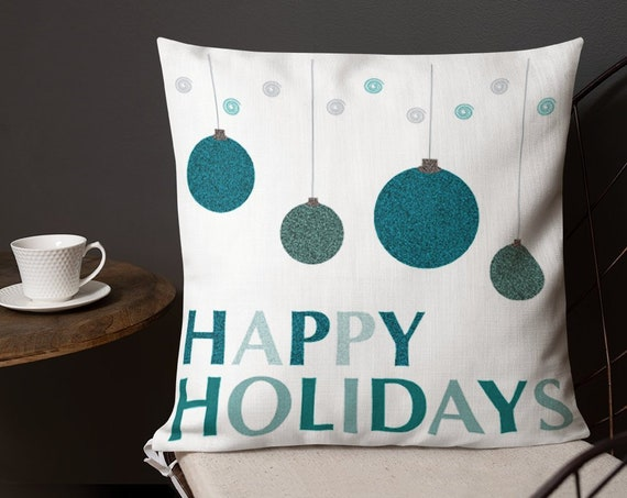 Seasonal DECORATIVE THROW PILLOW Holiday Home Decor Insert Included 18 x 18 Square Pillow Winter Home Decor Seasonal Christmas Home Decor