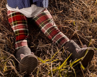 Red TARTAN PLAID LEGGINGS Tartan Plaid Leggings for Kids Leggings Baby Leggings Toddler Leggings Youth Leggings for Girls or Boys Leggings
