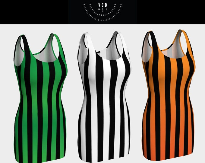 Vertical STRIPED DRESSES Womens HALLOWEEN Dresses Gothic Steampunk Clothing Body Con Dress Witch Dress Cosplay Costume Dress Punk Dress
