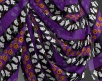 Jack O' Lantern Ghost SCARF Halloween Scarf Designer Scarf Womens Scarves Black and Orange Purple Ghost Print Womens Scarves Square and Long