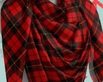 RED TARTAN PLAID Scarf for Women Long & Square Styles Red Plaid Scarf Designer Scarves for Women - Scarf - Women's Fashion Accessories Scarf
