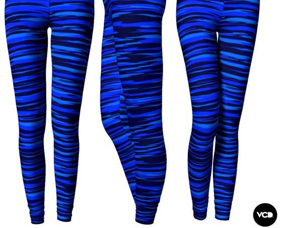 BLUE LEGGINGS for Women Camouflage Printed Leggings Yoga Leggings Yoga Pants Valentines Day Leggings Fashion Leggings