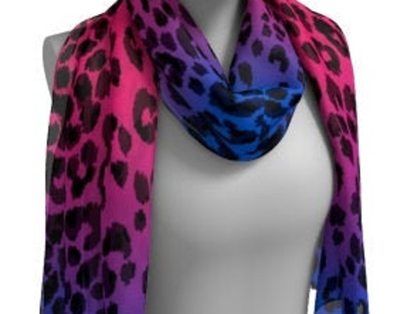 Pink and Purple CHEETAH SCARF Animal Print Scarf Women's Long Scarf Women's Square Scarf Leopard Print Scarves Summer Scarf Accessories