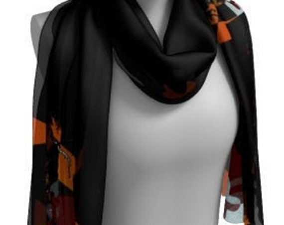 MARYLAND Flag Scarf Maryland SCARVES Printed Scarf Maryland State Flag Fashion Scarf Designer Fashion Scarf for Women Square and Long Styles