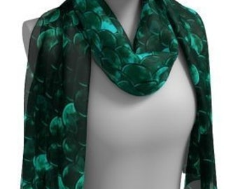 Mermaid SCARF Womens Beach Scarf Designer Fashion SCARVES for WOMEN Green Mermaid Scarf Long Scarf or Square Scarf Summer Accessories Gifts