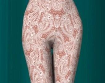 LACE LEGGINGS WOMENS Lace Print Leggings Art Leggings Nude and White Lace Pattern Leggings for Women Printed Leggings Sexy Leggings Cosplay