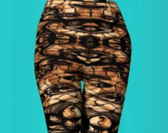 Cosplay Tattoo LEGGINGS Futuristic Clothing Cosplay Bondage Leggings WOMENS Cyber Punk Leggings Steampunk Leggings Sexy Print Leggings Pants