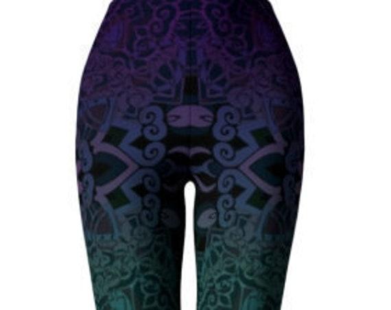 LEGGINGS Mandala Sacred Geometry YOGA PANTS Sexy Print Leggings Sexy Womens Leggings Sexy Yoga Pants Festival Leggings Burning Man Clothing