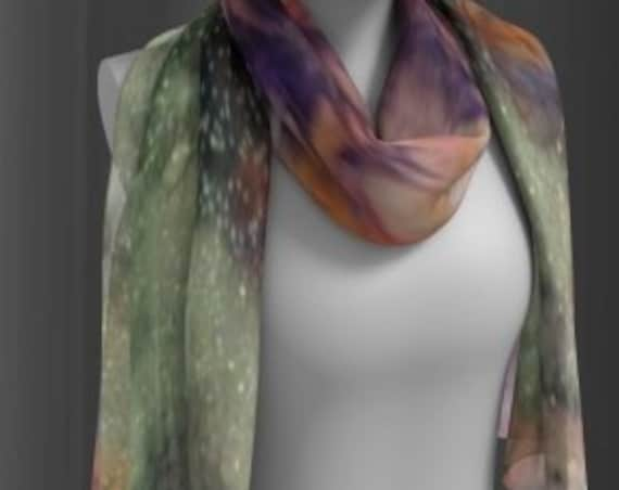Galaxy SCARF WOMENS SCARVES Designer Fashion Scarves Glitter Galaxy Square Scarf Long Scarf Fashion Accessories Christmas Gift for wife
