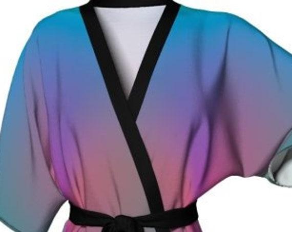 PASTEL Kimono Robe Fairy Kei KIMONO ROBE For Women Designer Fashion Robe Silky Knit Lingerie Robe Summer Robe Beach Cover up Gift for Her