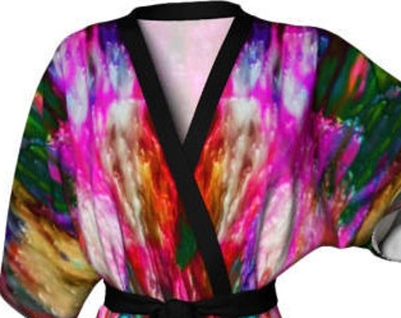 DESIGNER KIMONO ROBE Womens Designer Kimono Japanese Style Robe Luxury Robes for Women Bathrobe for Women Lingerie Robe Gift for Girlfriend