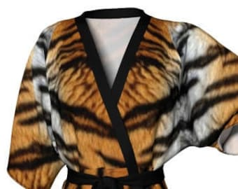 KIMONO ROBE WOMENS Tiger Robe Kimono Robe Womens Animal Print Kimono Robe Sexy Gift for Wife Gift for Her Gift for Mom Mothers Day Gift