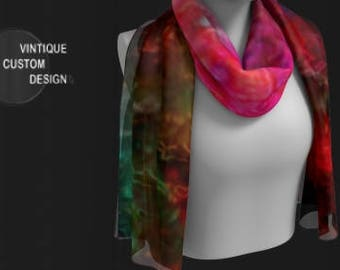 Galaxy RAINBOW SCARF for Women SCARVES Rainbow Art Print Designer Fashion Accessories Gift for Wife Gift for Girlfriend Gift for Best Friend