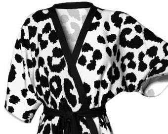 KIMONO ROBE WOMENS Cheetah Robe Kimono Robe Womens Animal Print Kimono Robe Sexy Gift for Wife Gift for Her Gift for Mom Mothers Day Gift