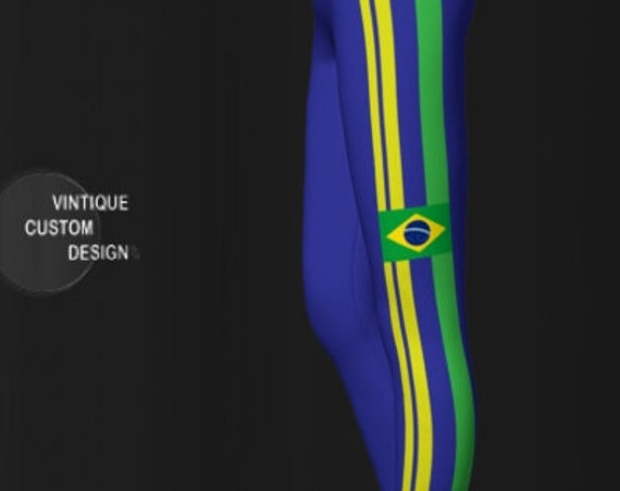 World Cup LEGGINGS Featuring Brazil Yoga Pants for Women Green Blue and Yellow Brazilian Flag Leggings Womens Yoga Leggings Soccer Leggings