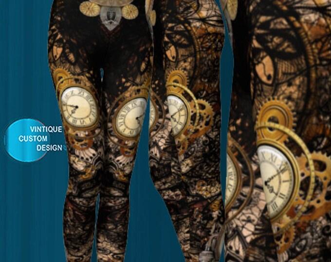 Featured listing image: Womens Designer Steam Punk Leggings
