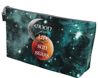 Clutch TOTE BAG Game of Thrones Gift MOON of My Life My Sun and Stars Emerald Galaxy Art Print Sun Moon Stars Make Up Tote Carry All Case