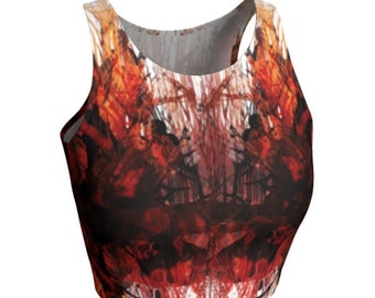 Red and White CROP TOP WOMENS Athletic Crop Top Activewear Clothing for Women Running Tank Top Soul Cycle Top Yoga Top Gym Clothing Womens
