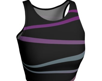 CROP TOP WOMENS - Activewear Clothing for Women - Crop Top - Athletic Crop Top - Workout Clothing - Cycling Top - Yoga Top - Gym Clothing