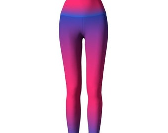 PINK Purple OMBRE LEGGINGS Womens Yoga Leggings Sexy Print Leggings for Women Yoga Pants Rainbow Leggings Art Leggings Work out Leggings