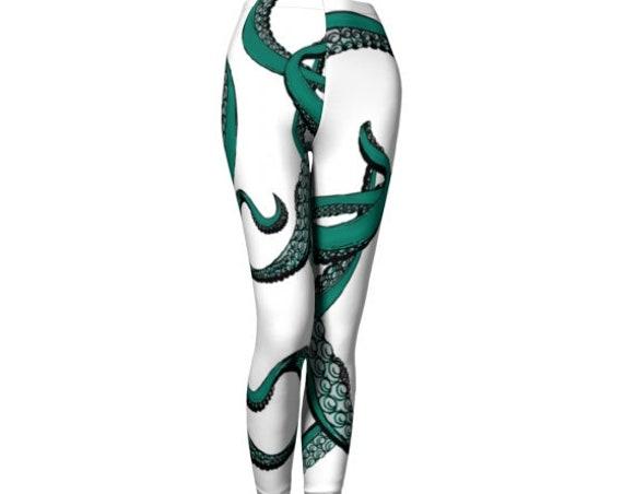 Octopus Tentacle LEGGINGS Womens YOGA PANTS Mythological Yoga Leggings Cosplay Leggings Cthulhu Squid Leggings Printed Leggings Art Leggings