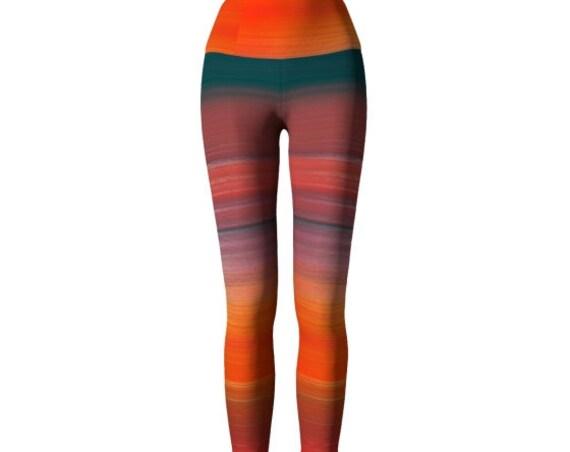 Ombre Leggings Womens Yoga Pants Art Leggings Designer Fashion Leggings for Women Yoga Leggings Festival Clothing Rave Leggings Dance Tights