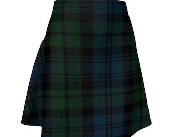 Green Tartan Plaid SKIRT Womens High Waisted Skirt TARTAN PLAID Mini Skirt Tartan Skirt Tartan Skirt 50s Saint Patricks Day Sexy Mini Skirt
