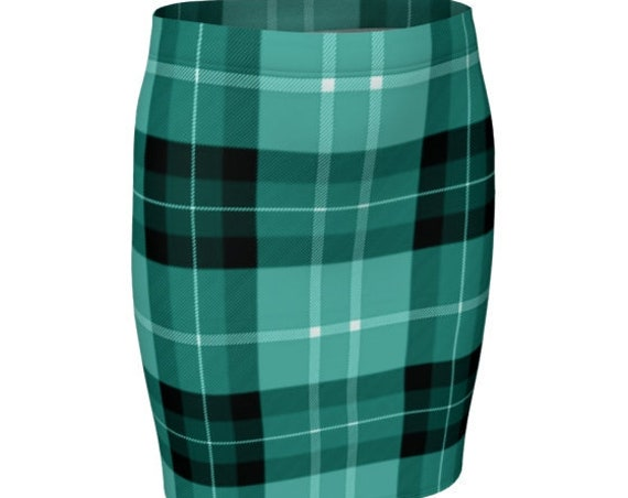 PLAID SKIRT Womens TARTAN Plaid Skirt Green Tartan Plaid High Waisted Skirt Flare Skirt for Women Sexy Mini Skirt Plaid Skirt School Girl