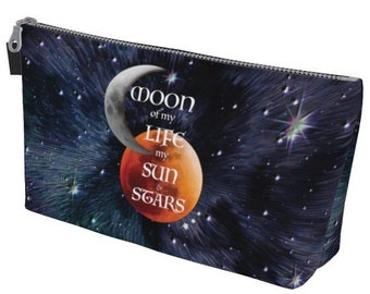 MAKE UP TOTE Game of Thrones Gift Bag Galaxy Art Print Game of Thrones Inspired Art Print Make Up Tote Travel Bag Travel Tote Cosmetic Bag