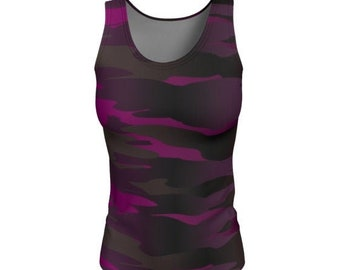 3ac62cd85a1a4 CAMOUFLAGE TANK TOP Womens Camouflage Tank Tops Work Out Top Running Tank  Cycling Clothing for Women Yoga Top Camo Print Shirt for Women