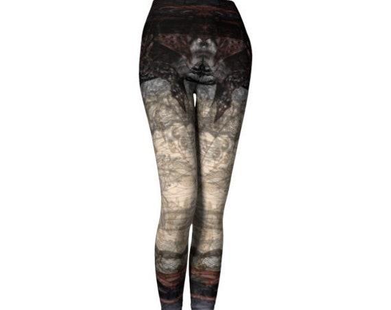 Steampunk Leggings Yoga Pants WOMENS Punk Leggings Cyberpunk Clothing Futuristic Clothing Cosplay Harley Quinn Steam Punk Gothic Clothing